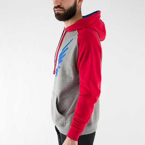 Red White & Blue 2-Tone Hoodie